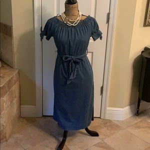 JCrew denim dress 👗 size 0 worn once